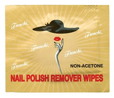 Picture of Frenchi Nail polish remover wipes without acetone with vitamin E, extract of bamboo, butter of tea tree.