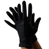 Показать информацию о Нитриловые Черные Перчатки без порошка 50 пар
