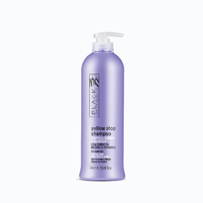 Picture of Black yellow Stop Shampoo for Streaks and White Hair 500 ml.