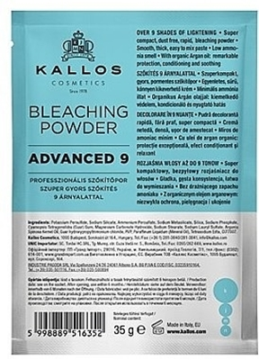Picture of KALLOS BLEACHING POWDER ADVANCED 9 35 G