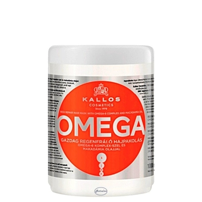 Picture of Kallos OMEGA - Rich Repair Hair Mask with OMEGA-6 Complex and Macadamia Oil 1000 ml.