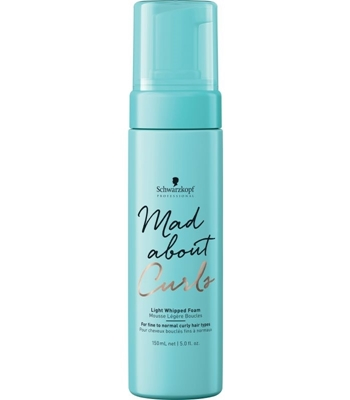Picture of SCHWARZKOPF PROFESSIONAL MAD ABOUT CURLS LIGHT WHIPPED FOAM 150ML