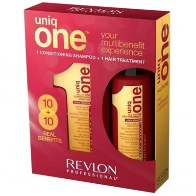 Picture of REVLON UNQONE SET SHAMPOO 300ML TREATMENT 150ML
